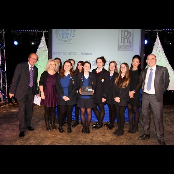 Natures Way Foods presented the 'Best School' award to Chichester High School for Girls