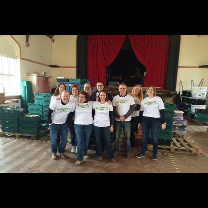 The Natures Way Foods team at the Portsmouth Foodbank